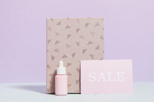 cute pink product packaging